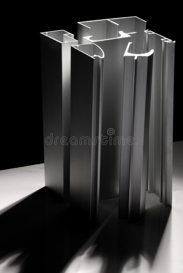 Aluminiumprofil stockfoto