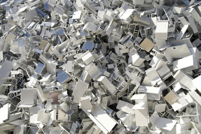 Aluminiumschrott stockfoto