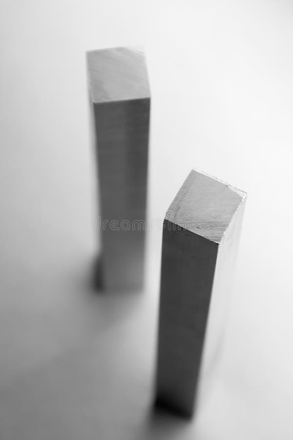 Aluminiumstäbe stockbilder