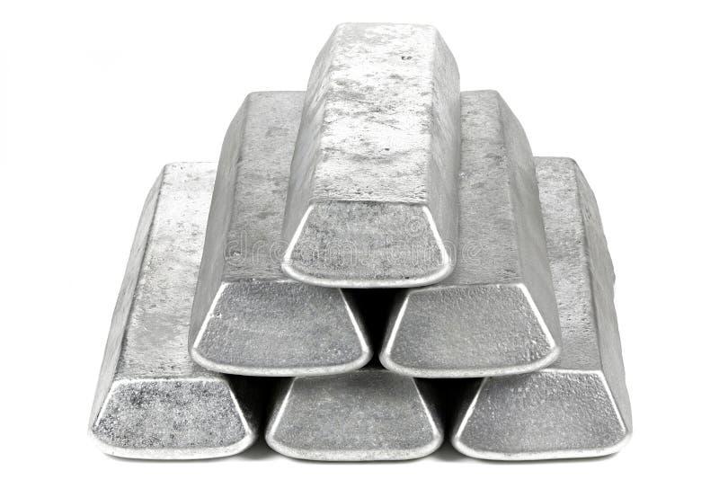 Aluminiumstänger arkivfoton