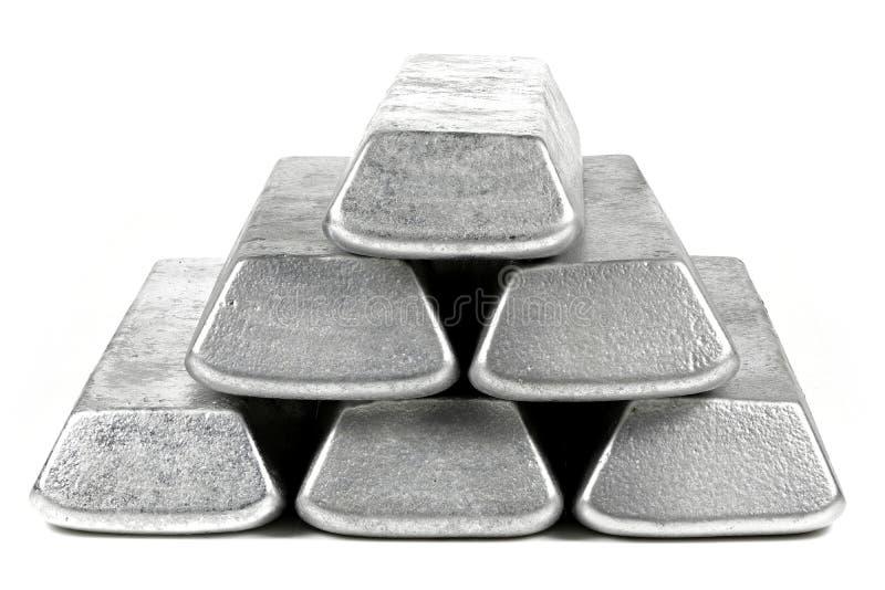 Aluminiumstänger royaltyfri bild