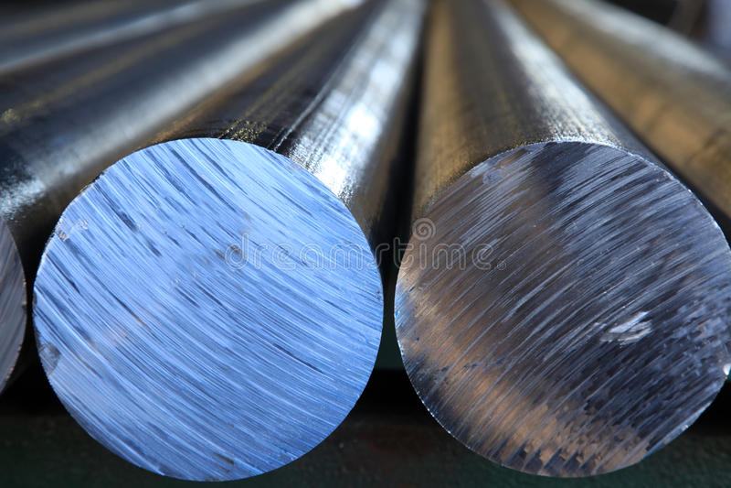 Aluminiumstangen stockfoto