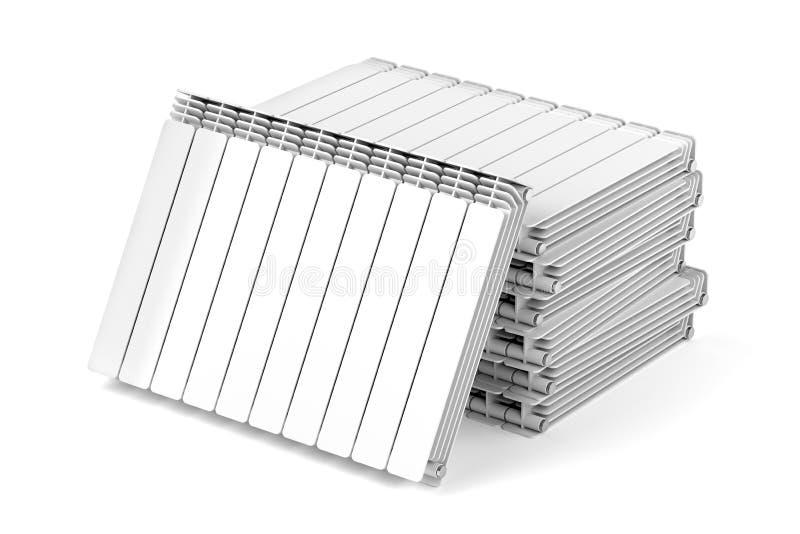 Aluminiumuppvärmningelement royaltyfri illustrationer