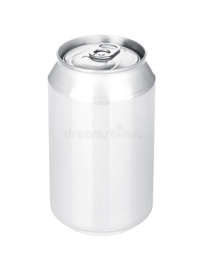 Aluminum öl- eller sodavattencan arkivbild
