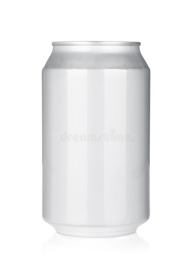 Aluminum öl- eller sodavattencan arkivbilder