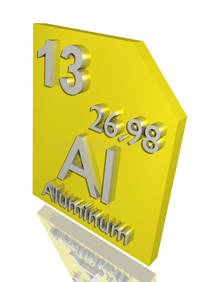 Download Aluminum stock illustration. Image of reflect, atomic - 10272589