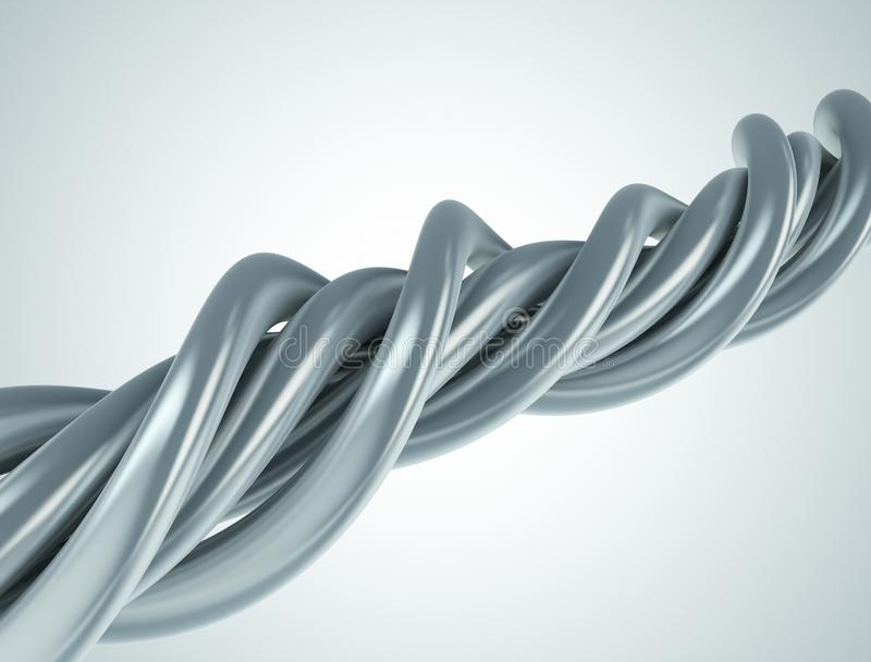 Aluminum abstract string artwork background royalty free illustration