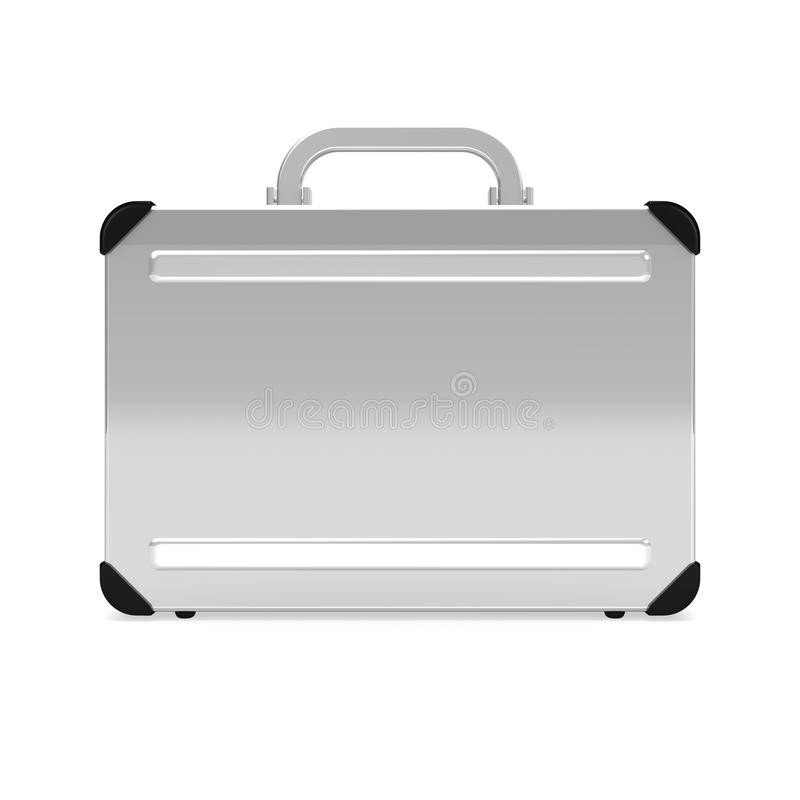 Aluminum Attache Case Front View Stock Image