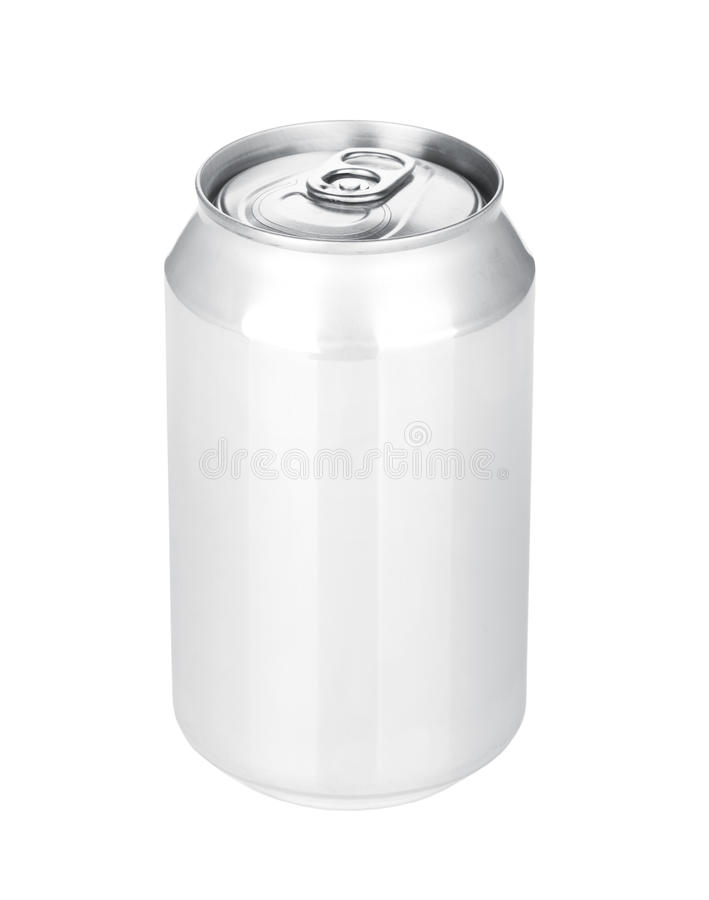 Aluminum beer or soda can stock photography