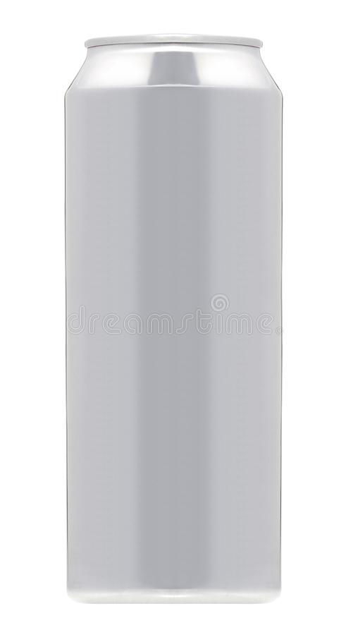 Aluminum beverage drink soda can isolated stock image