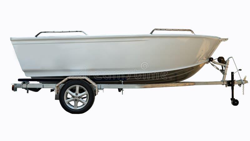 Aluminum boat head on white background. Aluminum boat head and Aluminum boat on white background stock images