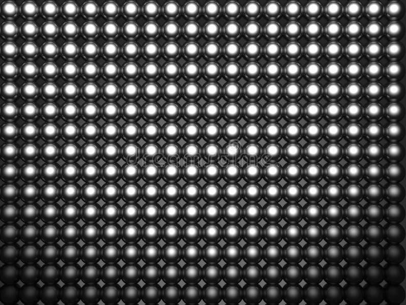 Aluminum Brilliant Sphere Shiny Pattern Stock Photography