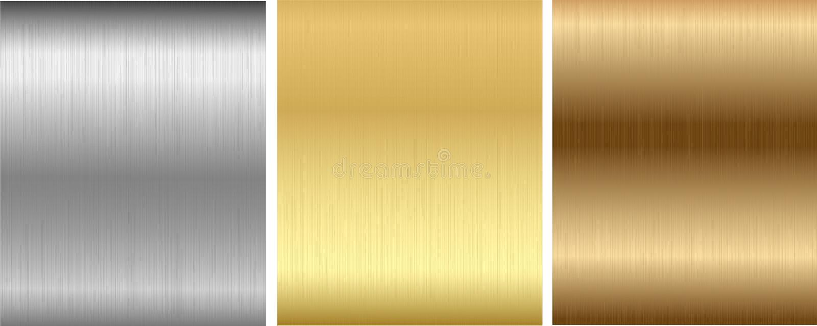 Download Aluminum, Bronze And Brass Stitched Textures Stock Vector - Image: 18456511