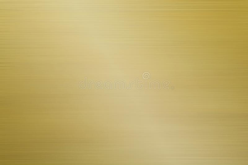 Aluminum brushed gold background stock image