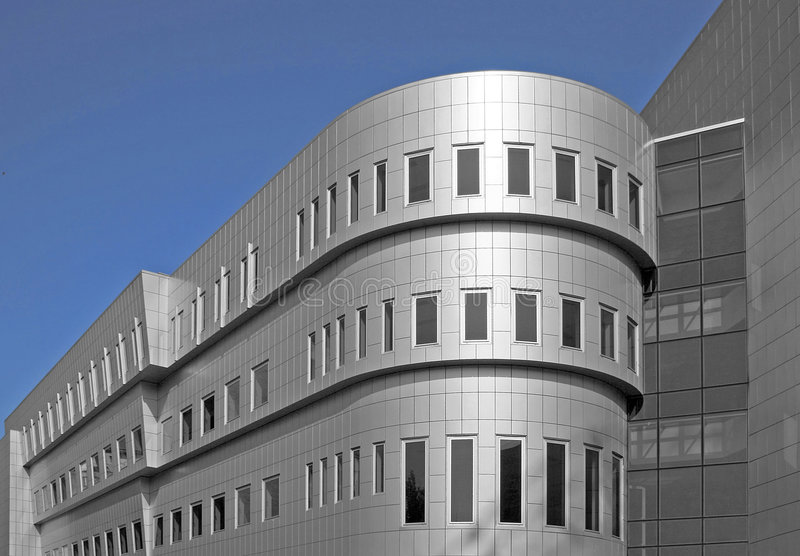 Aluminum building royalty free stock photography