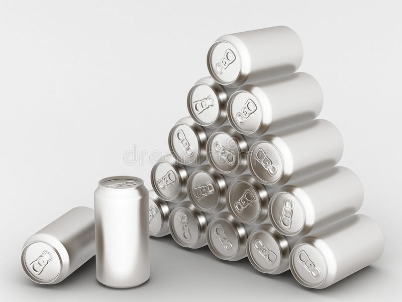 Download Aluminum can stock illustration. Image of alcohol, advertising - 20593488