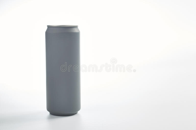 Aluminum can. Aluminum beverage can isolated on a white background royalty free stock photo