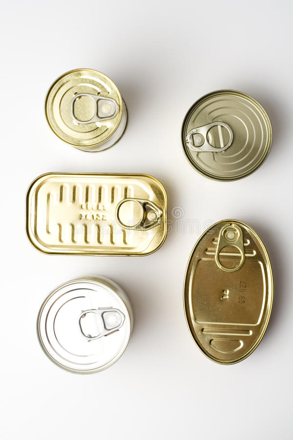 Free Aluminum Can, Canned Food Isolated Over White Stock Image - 10632161