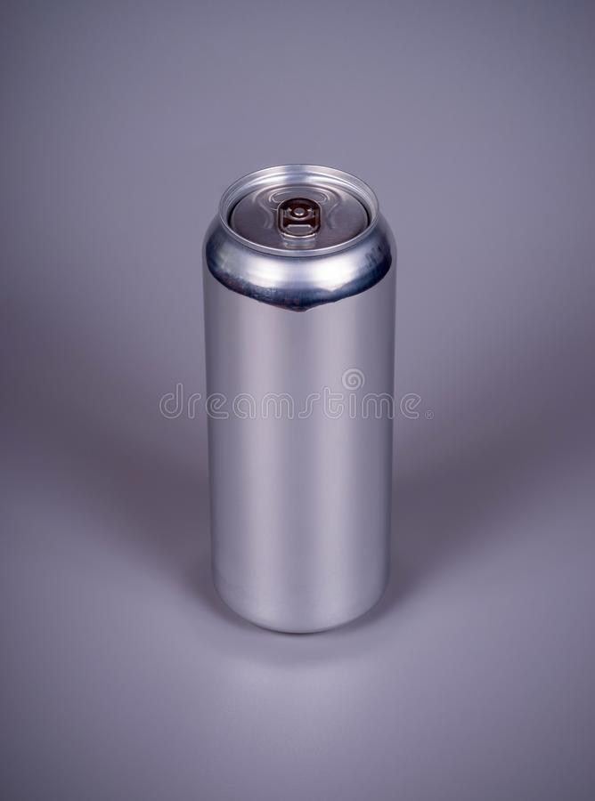 Aluminum can for drinks royalty free stock photo