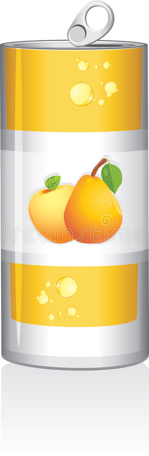Download Aluminum Can With Fruit Juice Stock Vector - Image: 25493717