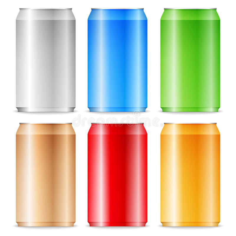 Download Aluminum cans stock vector. Image of grey, orange, color - 24824167