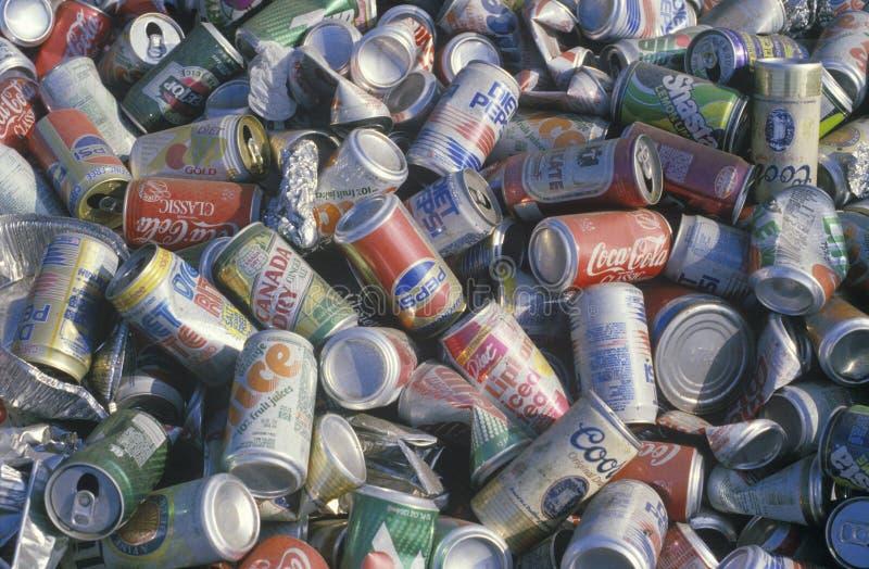 Aluminum cans, fotografering för bildbyråer