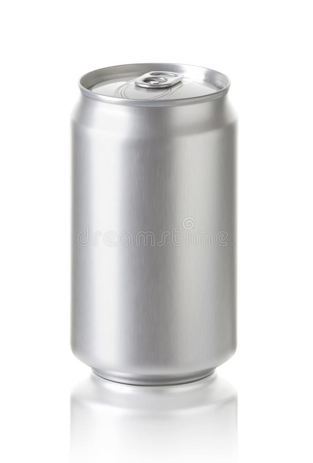 Aluminum cans on white background royalty free stock photos