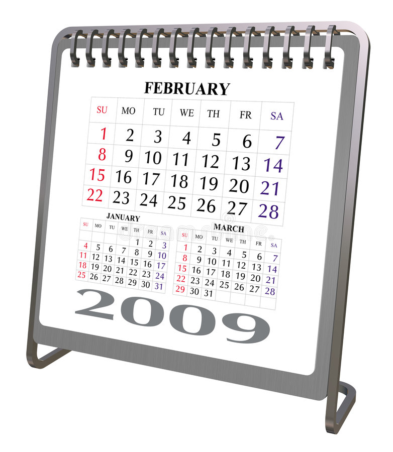 Download Aluminum And Chrome Desktop Calendar 2009 Stock Illustration - Image: 5713317
