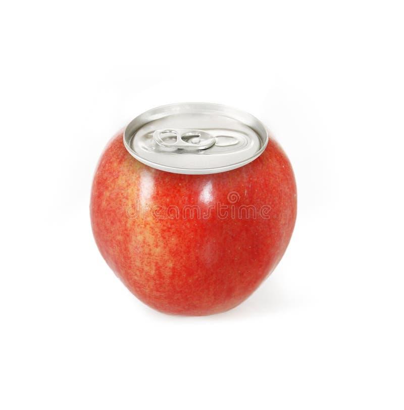 aluminum cirkel för red för äpplebegreppspull royaltyfri fotografi