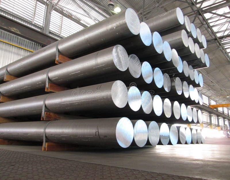 Aluminum cylinders stock photo