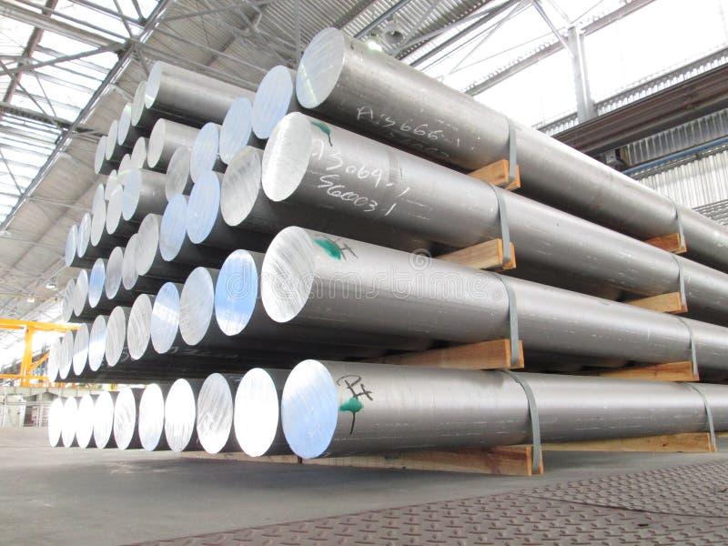 Aluminum cylinders stock photography