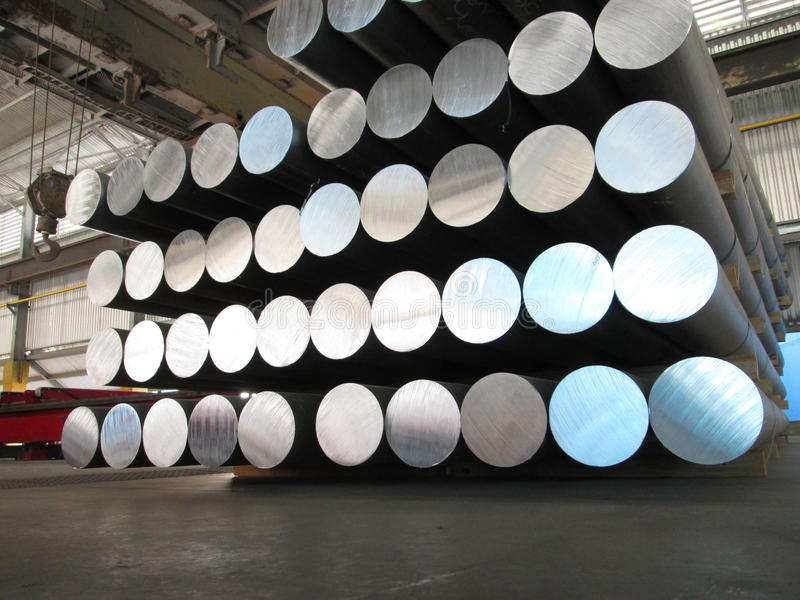 Aluminum cylinders royalty free stock photo