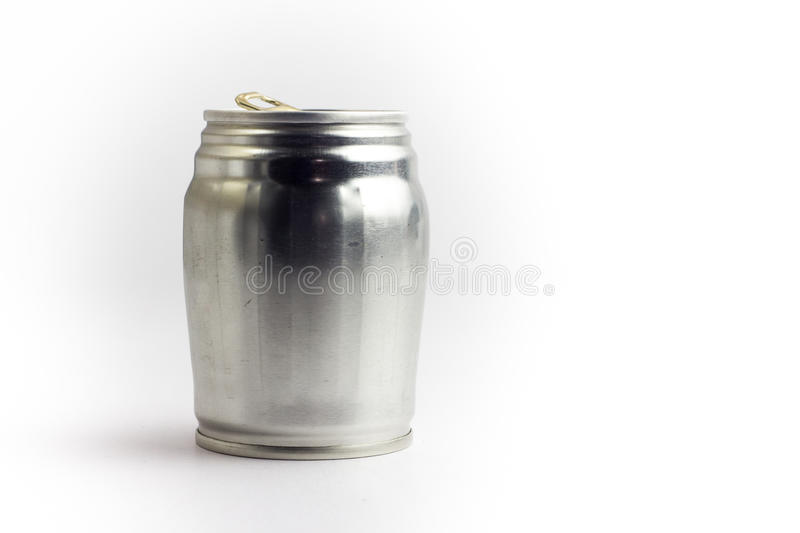 Aluminum drink can template for milk or juice design,Steel cans. On a white background royalty free stock images