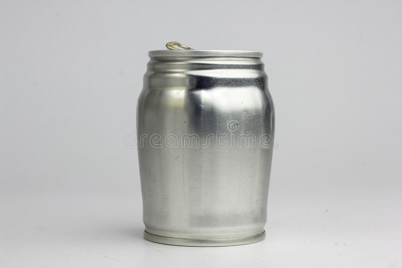 Aluminum drink can template for milk or juice design,Steel cans. On a white background stock photography