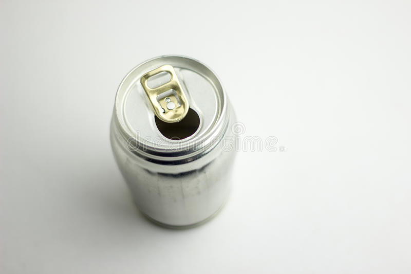 Aluminum drink can template for milk or juice design,Steel cans. On a white background stock images