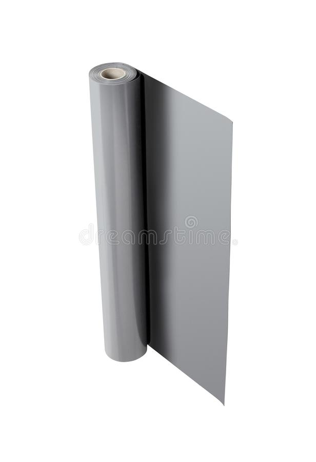 Aluminum foil roll isolated on white stock illustration
