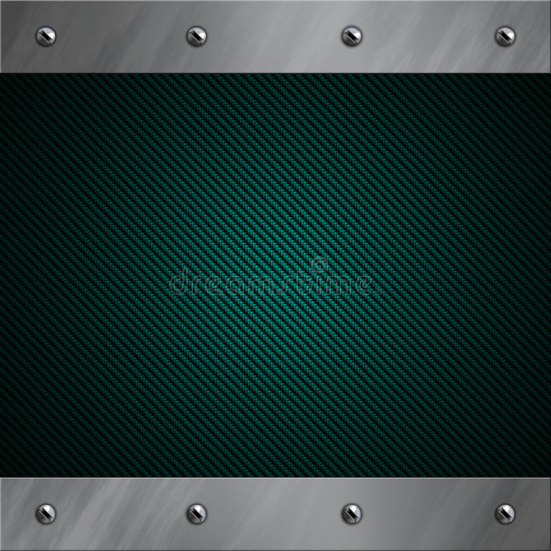 Download Aluminum Frame Bolted To A Blue Carbon Fiber Stock Image - Image: 24156219
