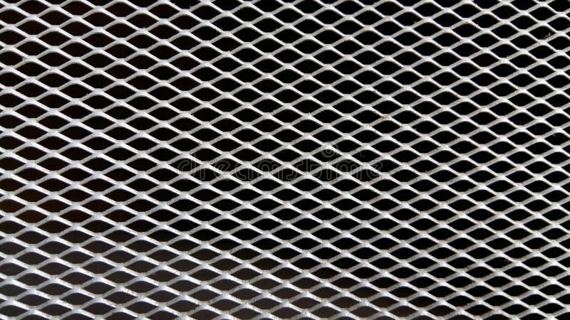 Aluminum grille, diamond pattern stock photos