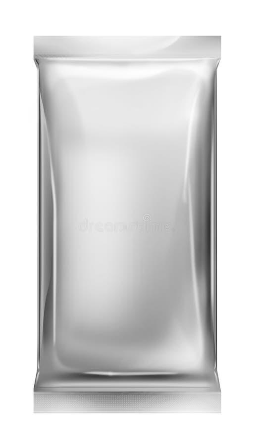 aluminum isolerad packe för påse folie arkivbild