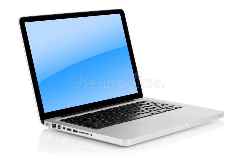 Aluminum laptop royalty free stock photography