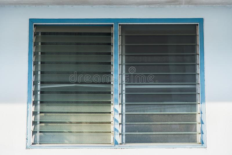 Aluminum Louver or glass shutter windows. royalty free stock photo