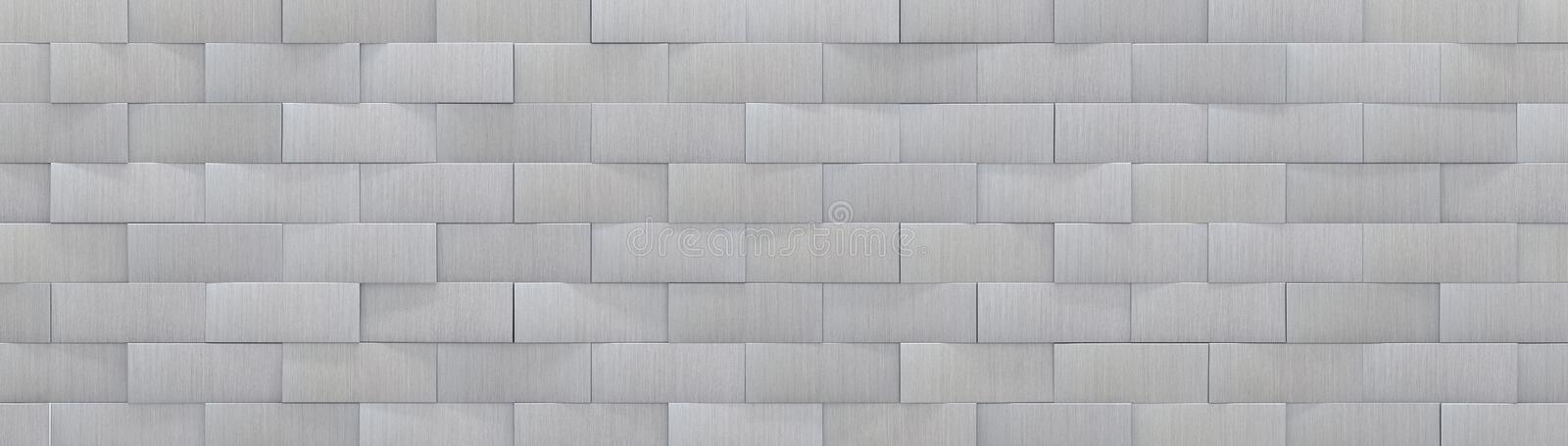 Metal Panels Background 3D Illustration. Aluminum metal panels background website head, 3d render illustration royalty free illustration