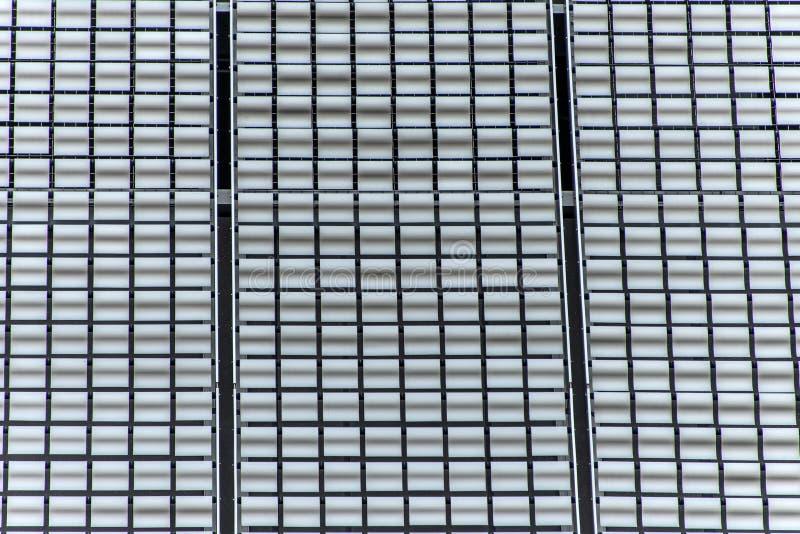Aluminum metal sheet board texture background wall facade stock images