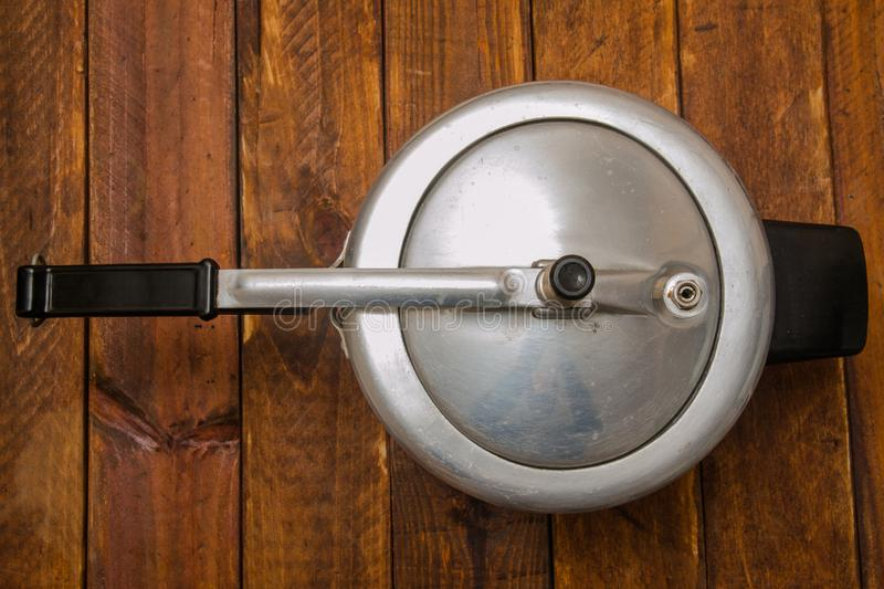 Aluminum pressure cooker royalty free stock images
