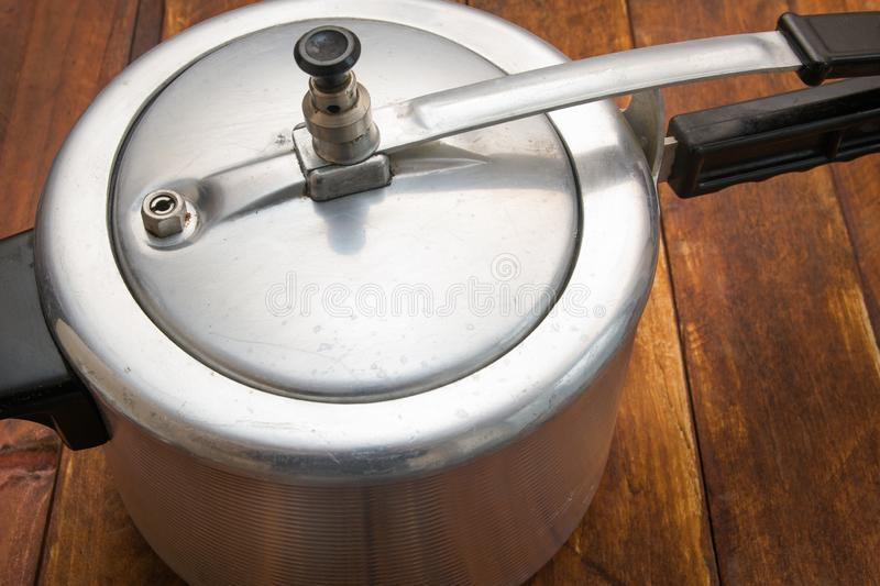 Aluminum pressure cooker royalty free stock photos