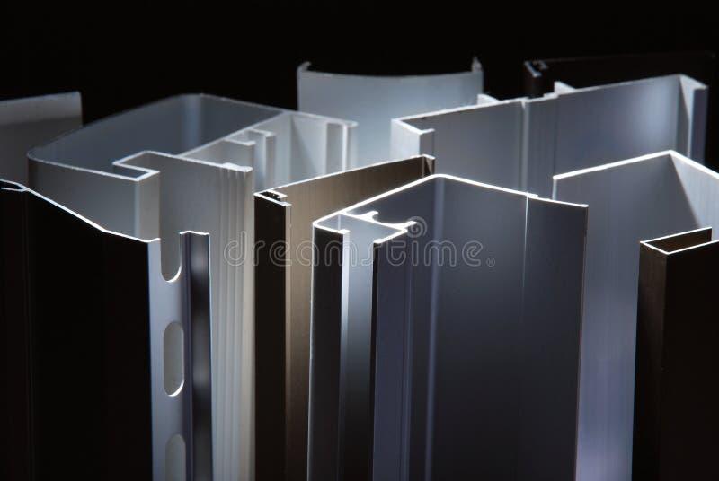 Aluminum profil f?r f?nster arkivbilder