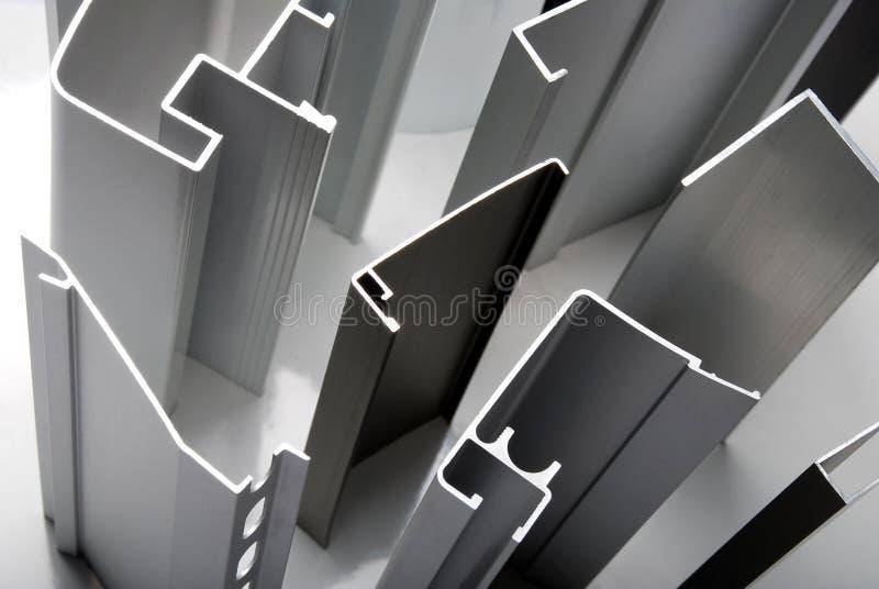 Aluminum profile stock photo
