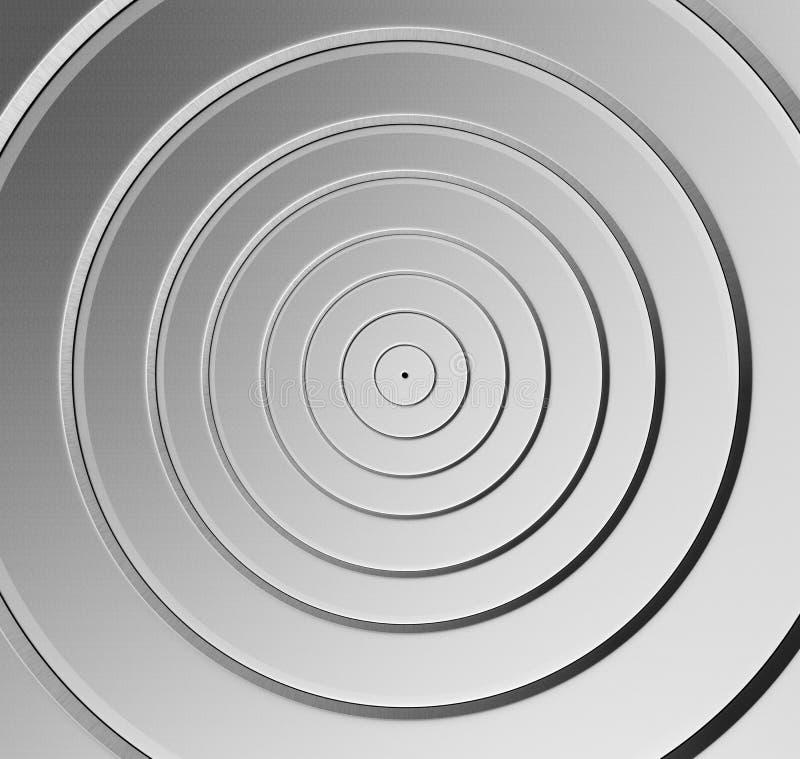 Aluminum round pattern background stock image