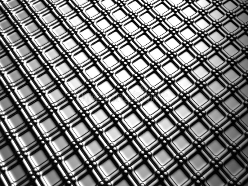 Aluminum silver square pattern background stock images