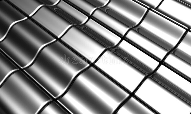 Aluminum silver tile background royalty free stock image